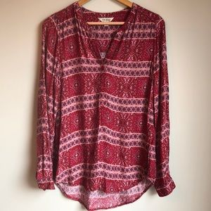 Lucky brand tunic Size small